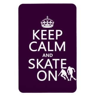 Keep Calm and Skate On (rollerskates) (any color) Magnet