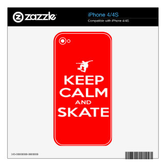Keep Calm and Skate Skin For The iPhone 4S