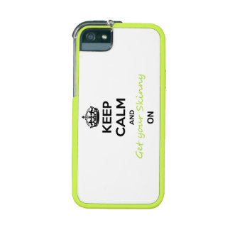 Keep Calm and Skinny Wrap on iphone case