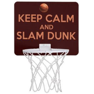 Keep Calm And Slam Dunk! Mini Basketball Backboard