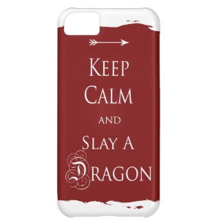 Keep Calm and Slay a Dragon iPhone 5C Cover
