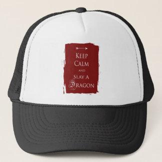 Keep Calm and Slay a Dragon Trucker Hat