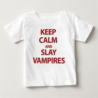 Keep Calm and Slay Vampires Baby T-Shirt