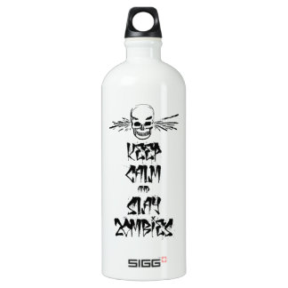 Keep Calm and Slay Zombies Aluminum Water Bottle