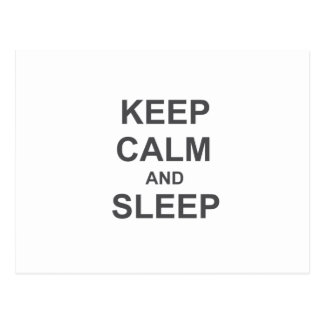 Keep Calm and Sleep black gray blue Postcard