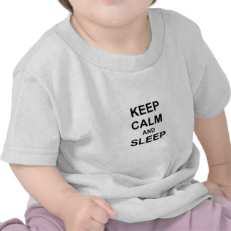 Keep Calm and Sleep black gray blue T-shirt