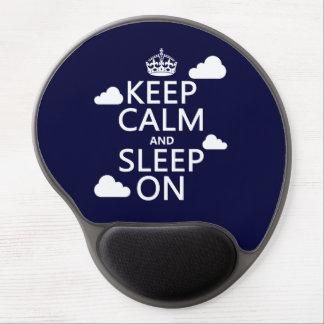 Keep Calm and Sleep On (customize color) Gel Mouse Mats