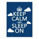 Keep Calm and Sleep On (customize color) 5.5x7.5 Paper Invitation Card