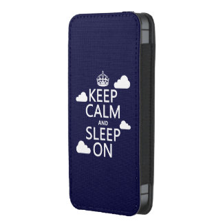Keep Calm and Sleep On (customize color) iPhone SE/5/5s/5c Pouch