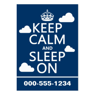 Keep Calm and Sleep On (customize color) Large Business Cards (Pack Of 100)