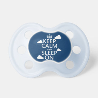 Keep Calm and Sleep On (customize color) Baby Pacifier
