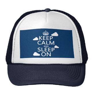 Keep Calm and Sleep On (customize color) Trucker Hat