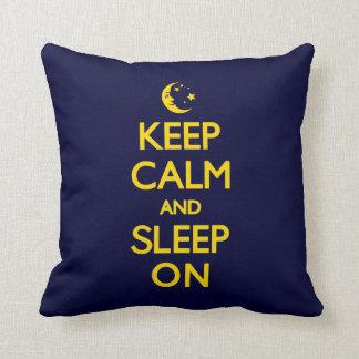 KEEP CALM AND SLEEP ON PILLOW