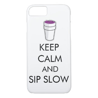 Keep calm and slip slow iphone case