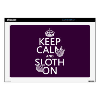 """Keep Calm and Sloth On 17"""" Laptop Decals"""