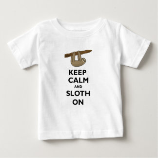 Keep Calm And Sloth On Baby T-Shirt