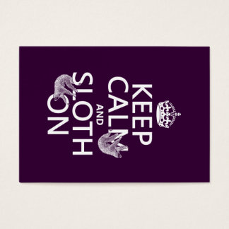 Keep Calm and Sloth On Business Card