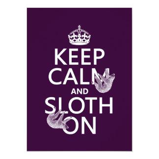 Keep Calm and Sloth On Card