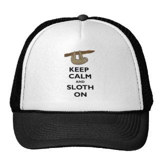 Keep Calm And Sloth On Mesh Hats
