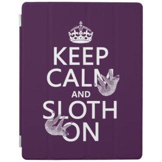 Keep Calm and Sloth On iPad Smart Cover