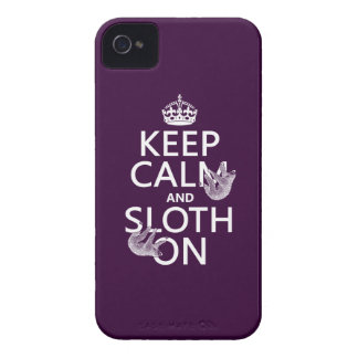 Keep Calm and Sloth On iPhone 4 Case-Mate Case