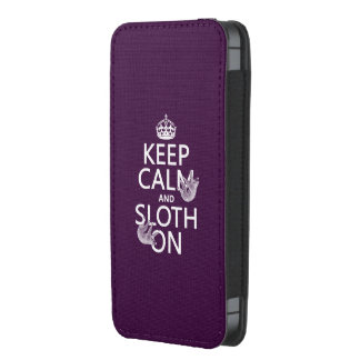 Keep Calm and Sloth On iPhone 5 Pouch