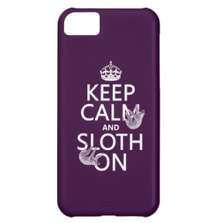 Keep Calm and Sloth On iPhone 5C Case