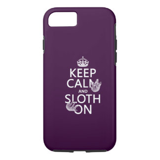 Keep Calm and Sloth On iPhone 8/7 Case
