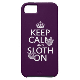 Keep Calm and Sloth On iPhone SE/5/5s Case