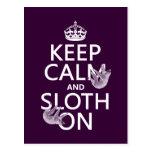 Keep Calm and Sloth On Postcard