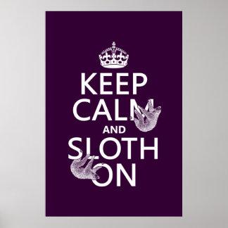 Keep Calm and Sloth On Print
