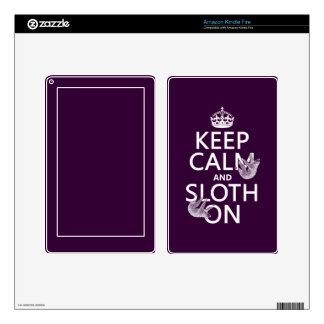 Keep Calm and Sloth On Skin For Kindle Fire