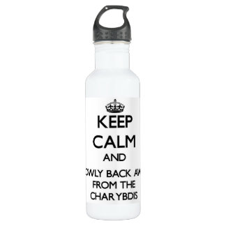 Keep calm and slowly back away from Charybdis 24oz Water Bottle