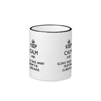 Keep calm and slowly back away from Cluricauns Mug
