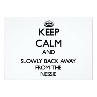 Keep calm and slowly back away from Nessie 5x7 Paper Invitation Card