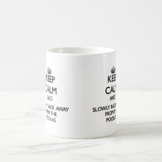 Keep calm and slowly back away from Pookas Classic White Coffee Mug