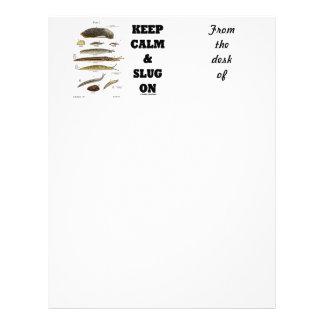 Keep Calm And Slug On (Slug Humor) Letterhead
