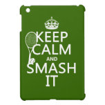 Keep Calm and Smash It (tennis)(any color) iPad Mini Covers