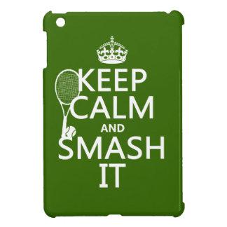 Keep Calm and Smash It (tennis)(any color) iPad Mini Cover