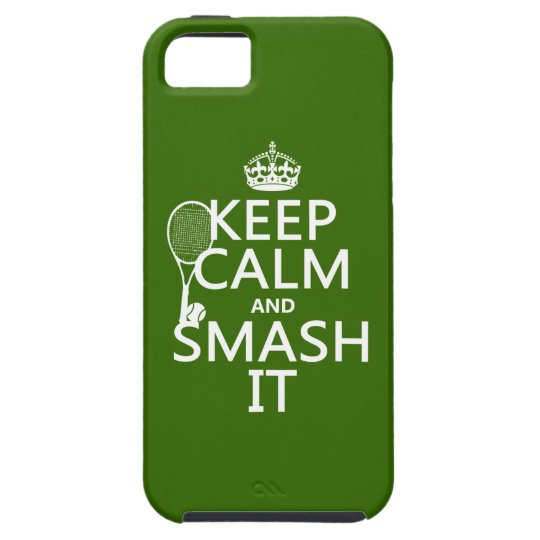 Keep Calm and Smash It (tennis)(any color) iPhone SE/5/5s Case
