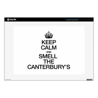 """KEEP CALM AND SMELL THE CANTERBURY'S DECAL FOR 15"""" LAPTOP"""
