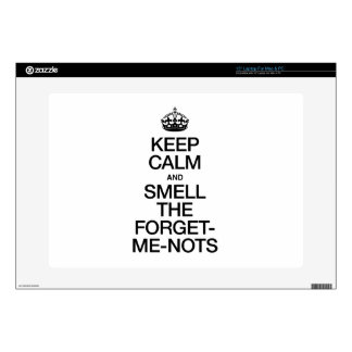 KEEP CALM AND SMELL THE FORGET ME NOTS DECALS FOR LAPTOPS