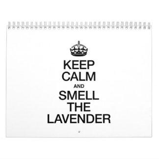 KEEP CALM AND SMELL THE LAVENDER CALENDAR