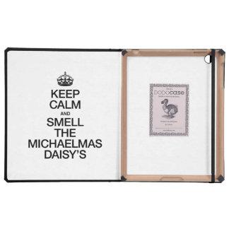 KEEP CALM AND SMELL THE MICHAELMAS DAISY'S iPad CASE