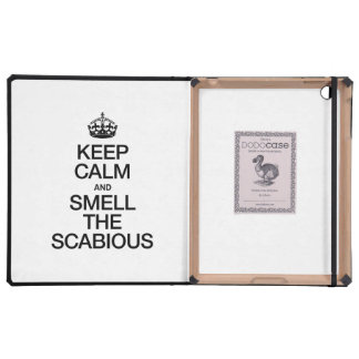 KEEP CALM AND SMELL THE SCABIOUS iPad CASE