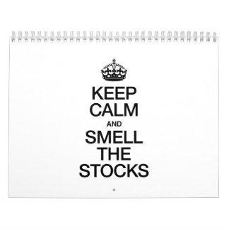 KEEP CALM AND SMELL THE STOCKS CALENDAR