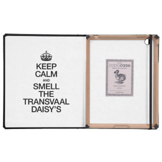 KEEP CALM AND SMELL THE TRANSVAAL DAISY'S iPad CASE