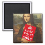 Keep Calm And Smile 2 Inch Square Magnet