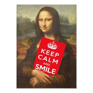 Keep Calm And Smile Card