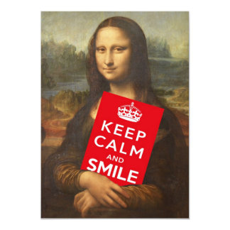 Keep Calm And Smile Card